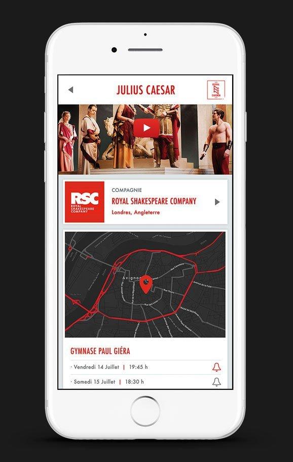 Aplicación con la marca, el cartel y la identidad de tu festival de teatro. Adaptada a la imagen de tu festival de Artes Escénicas.