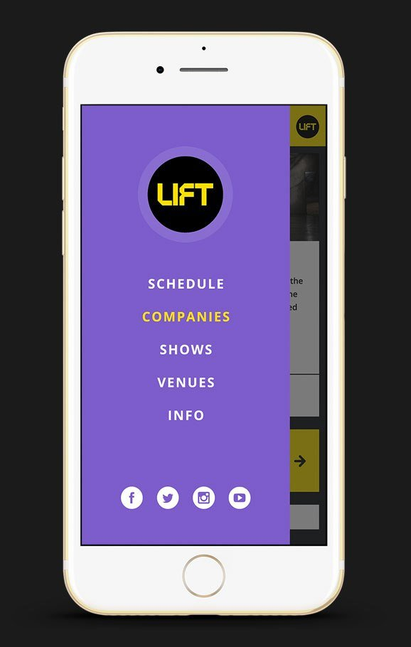 Your theatre festival's schedule, events, companies, performance dates and times, ticket prices, map of venue locations, etc.